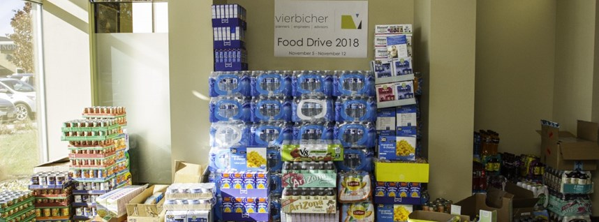 Vierbicher Food Drives Raises Nearly 5,000 Pounds of Food